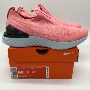 Sz 8.5 Women's Nike Epic Phantom React Flyknit